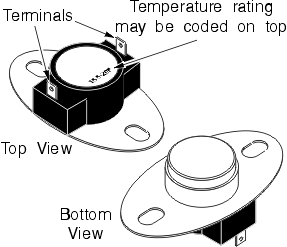 Typical Clothes Dryer Thermostats