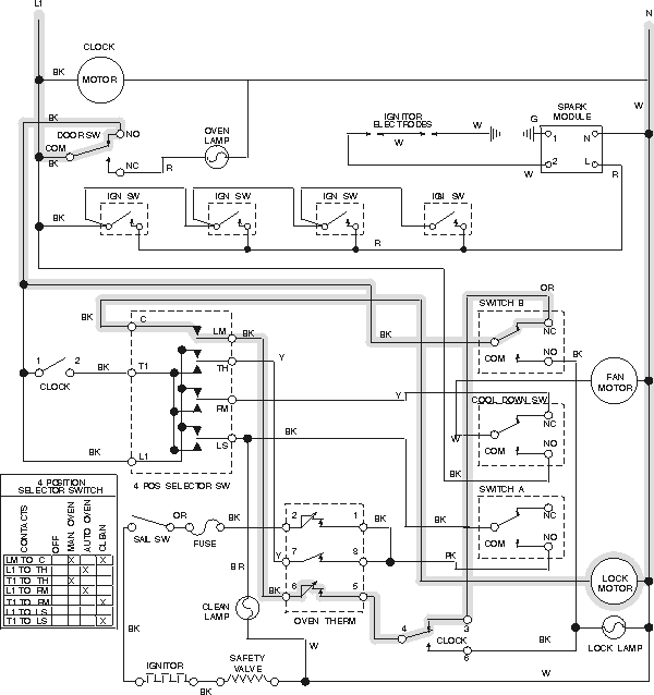 2 h oven selector switch wiring diagram diagram wiring diagrams for selector switch wiring diagram at soozxer.org