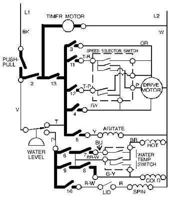 Washing Machine Repair 2 on wiring diagram for timer switch