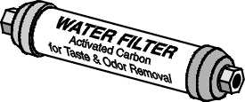Typical Refrigerator Inline Water Filter