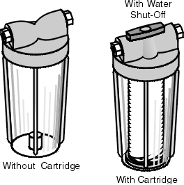 Typical Refrigerator Cartridge Water Filters
