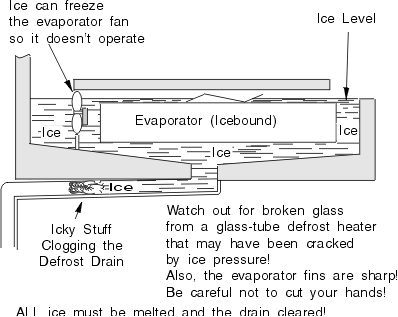 Refrigerator has ice or water buildup chapter 6 Can you put hot food in the refrigerator