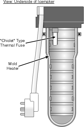 Chiclet Type Refrigerator Thermal Fuse
