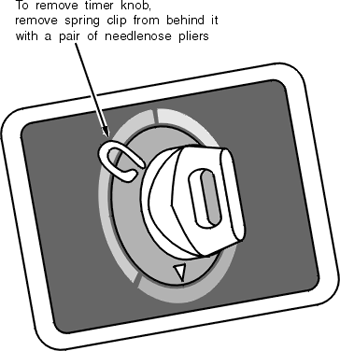 GE Washer Timer Dial Spring Clip