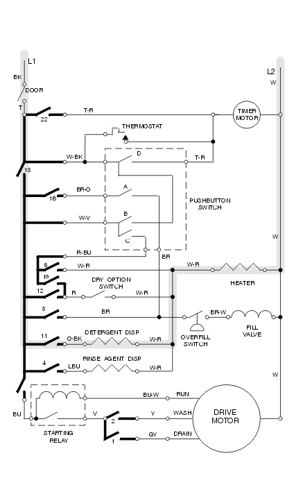 dishwasher electrical problems chapter 6 dishwasher repair manual rh appliancerepair net wiring diagram for dishwasher and disposal wiring diagram for dishwasher and disposal