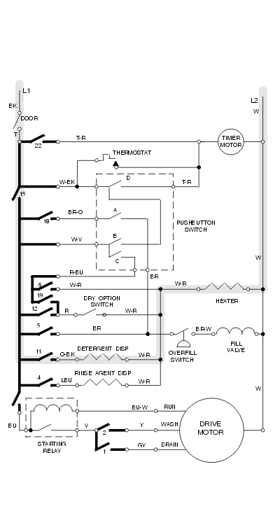 4 Wire Motor Wiring - Schematics Online  Wire Timer Switch Wiring Diagram on