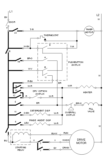 Typical Dishwasher Wiring Diagram