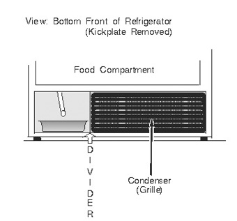 Refrigerator Bottom-Mounted Condenser