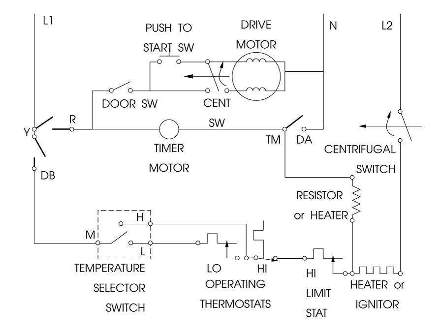 dryer schematic clothes dryer troubleshooting | dryer repair manual 220 dryer schematic wiring