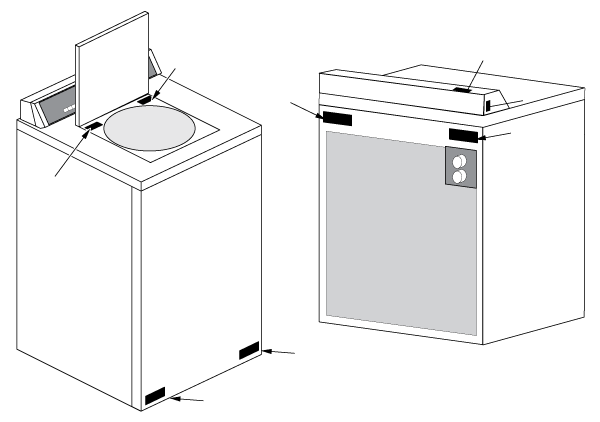 Washing Machine Nameplate Information & Locations